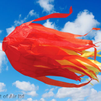 Meteor windsock sold by camping and kite centre