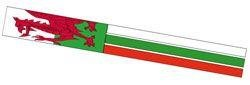 The Spirit of Air Wales Windsock is Sold by Devon Outdoor and The Camping and Kite Centre.