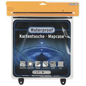 The Ortlieb Waterproof Map Case is Sold by Devon Outdoor and The Camping and Kite Centre.