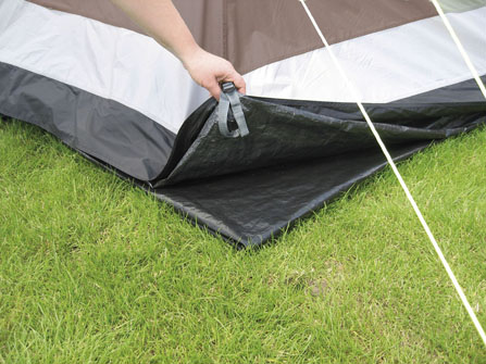 The Outwell Glendale 4 Footprint is Sold by Devon Outdoor and The Camping and Kite Centre.