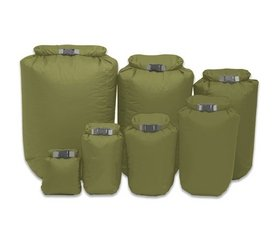 The Exped Fold Drybag Set Olive is Sold by Devon Outdoor and The Camping and Kite Centre.