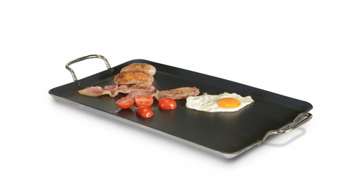 The Kampa Easy Over Non Stick Griddle is Sold by Devon Outdoor and The Camping and Kite Centre.