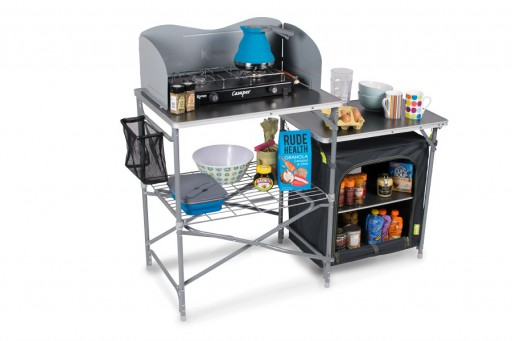 The Kampa Commander Field Kitchen is Sold by Devon Outdoor and The Camping and Kite Centre.
