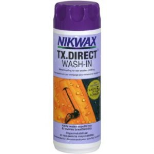 Nikwax TX Direct Wash In is Sold by Devon Outdoor and The Camping and Kite Centre.