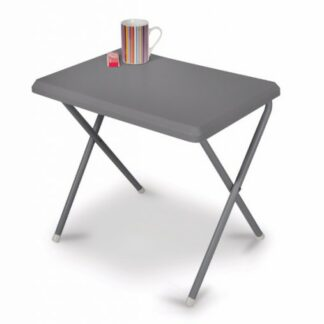 The Kampa Mini Plastic Table is Sold by Devon Outdoor and The Camping and Kite Centre.
