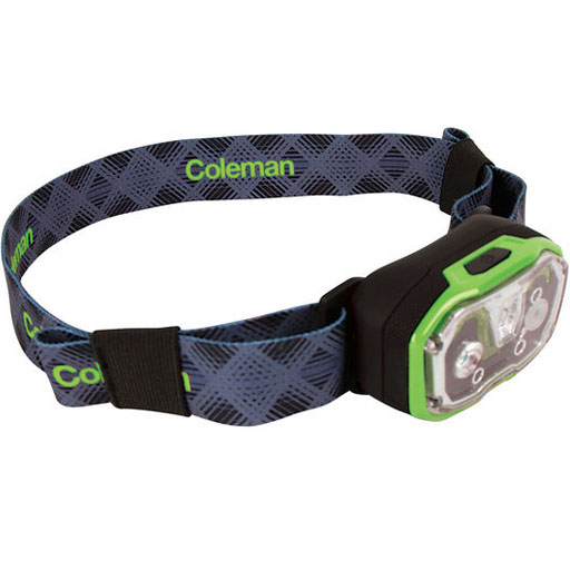 The Coleman CXS+ 300 Rechargeable Headlamp is Sold by Devon Outdoor and The Camping and Kite Centre.