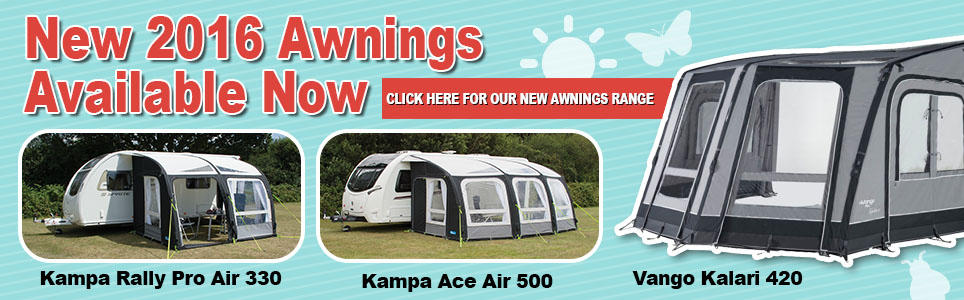 Caravan Awnings top brands including Kampa and Vango from Devon Outdoor & Camping and Kite Centre