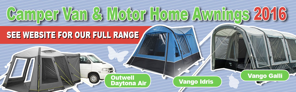 A wide selection of Camper Van & Motor Home Awnings available from Devon Outdoor and Camping & Kite Centre