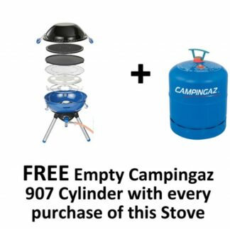 The Campingaz Party Grill 400 is Sold by Devon Outdoor and The Camping and Kite Centre.