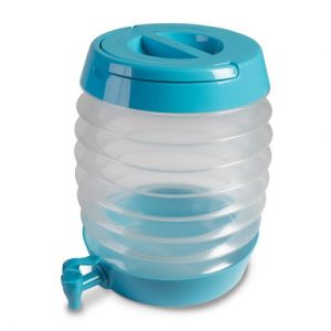 The Kampa Collapsible Keg 7.5L is Sold by Devon Outdoor and The Camping and Kite Centre.