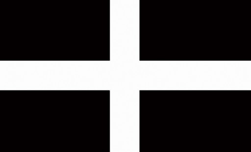 The Spirit of Air St Piran Cornwall Flag is Sold by Devon Outdoor and The Camping and Kite Centre.