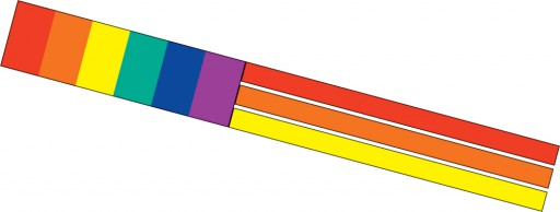 The Spirit of Air Rainbow Windsock is Sold by Devon Outdoor and The Camping and Kite Centre.
