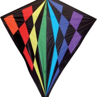 The Spirit of Air Giant Diamond Spectrum Kite is Sold by Devon Outdoor and The Camping and Kite Centre.