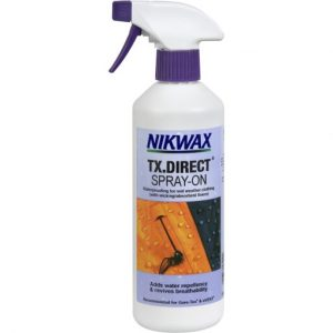 The Nikwax TX Direct Spray On 300ml is Sold by Devon Outdoor and The Camping and Kite Centre