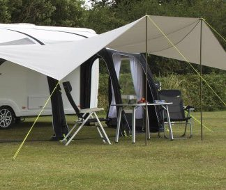 The Kampa Ace Air Pro 500 Sun Wing is Sold by Devon Outdoor and The Camping and Kite Centre.
