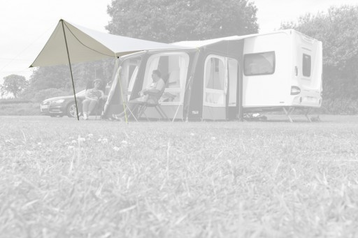 The Kampa Ace/Frontier Air Pro 300 Sun Wing is Sold by Devon Outdoor and The Camping and Kite Centre.