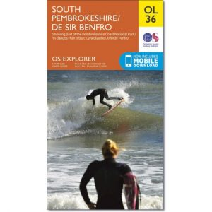 The OS Map OL36 South Pembrokeshire is Sold by Devon Outdoor and The Camping and Kite Centre.