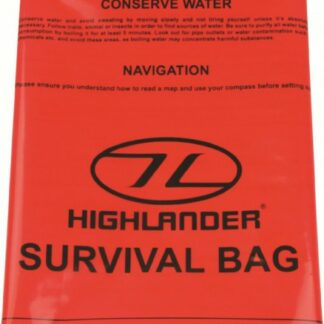 The Highlander Emergency Survival Bag is Sold by Devon Outdoor and The Camping and Kite Centre.