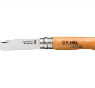 The Opinel Carbon Knife No.6 is Sold by Devon Outdoor and The Camping and Kite Centre.