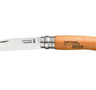 The Opinel Carbon Knife No.7 is Sold by Devon Outdoor and The Camping and Kite Centre.