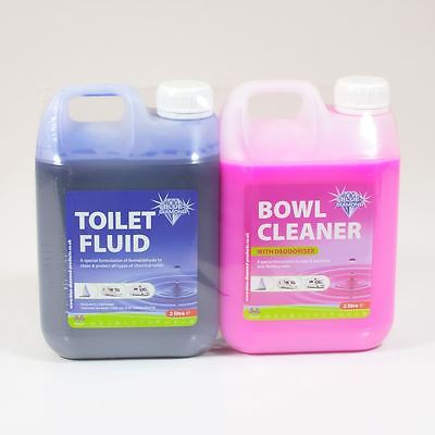 Blue Diamond Toilet Fluid/bowl Cleaner Twin Pack 2ltr