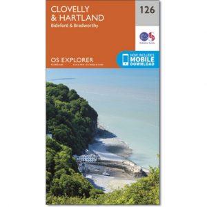 OS Map No 126 Clovelly & Hartland