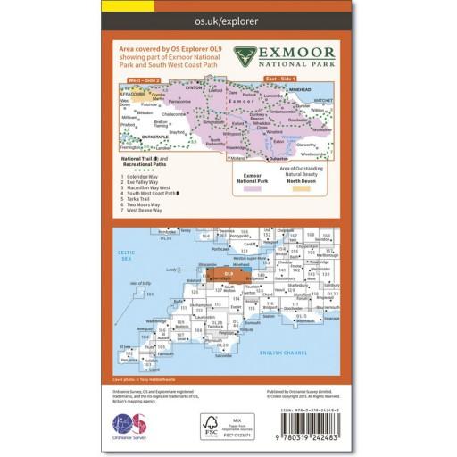 OS Map No OL9 Exmoor