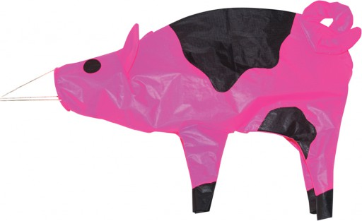 The Spirit of Air Pig Windsock is Sold by Devon Outdoor and The Camping and Kite Centre.