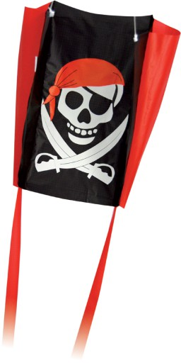 The Spirit of Air Pocket Pal Pirate Sled Kite is sold by Devon Outdoor and The Camping and Kite Centre.