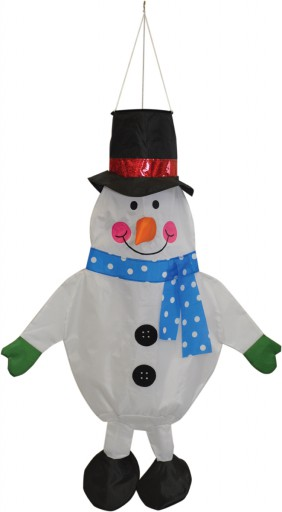 The Spirit of Air Snowman Windsock is Sold by Devon Outdoor and The Camping and Kite Centre.