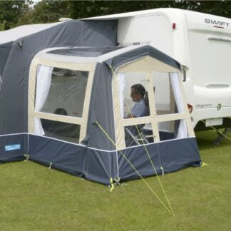 The Kampa Classic Air Conservatory is Sold by Devon Outdoor and The Camping and Kite Centre.