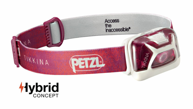 The Petzl Tikkina Headlamp is Sold by Devon Outdoor and The Camping and Kite Centre.