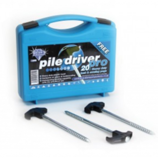 The Blue Diamond Pile Driver Pro Pegs - Box of 20. Sold by Devon Outdoor and The Camping and Kite Centre.