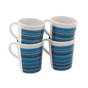 Outwell Blossom Mug Set 4pcs Columbine Blue