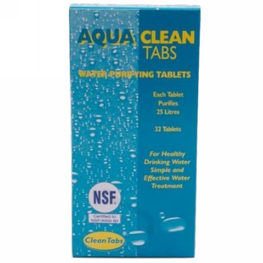 Aqua Clean Water Purifying Tabs 32 Tablets