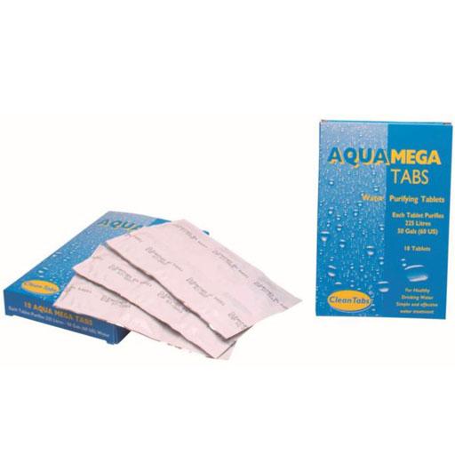 Aqua Mega Water Purifying Tabs 18 Tablets