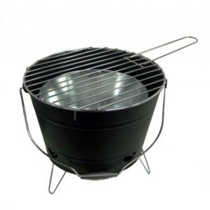 The Sunncamp Deluxe Bucket BBQ is Sold by Devon Outdoor and The Camping and Kite Centre.