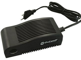 The Outwell AC DC Adapter - 230V To 12V is Sold by Devon Outdoor and The Camping and Kite Centre.