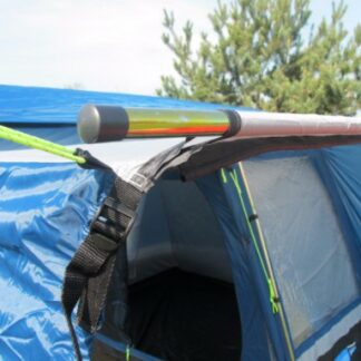 The Kampa Connecting Pole & Clamp Set is Sold by Devon Outdoor and The Camping and Kite Centre.