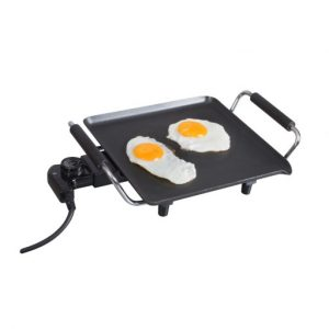 The Kampa Fry Up Electric Griddle is Sold by Devon Outdoor and The Camping and Kite Centre.