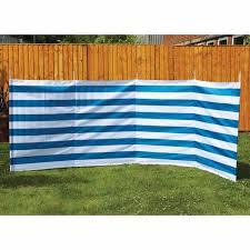Quest Shetland 5 Pole Windbreak Blue Stripe