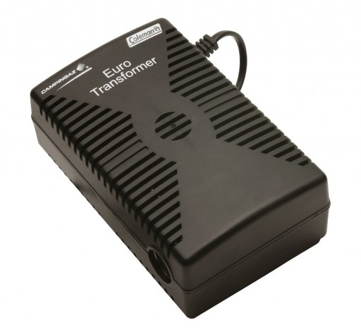 The Campingaz Euro Transformer 230V to 12V is Sold by Devon Outdoor and The Camping and Kite Centre.