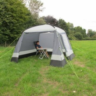 The Kampa Day Room is Sold by Devon Outdoor and The Camping and Kite Centre.
