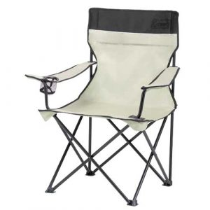 The Coleman Standard Quad Chair Khaki is Sold by Devon Outdoor and The Camping and Kite Centre.