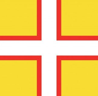 The Spirit of Air Dorset St Wite Flag is Sold by Devon Outdoor and The Camping and Kite Centre.
