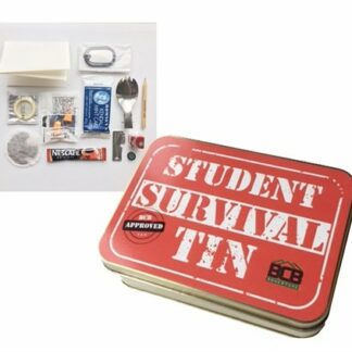 The BCB Student Survival Tin is Sold by Devon Outdoor and The Camping and Kite Centre