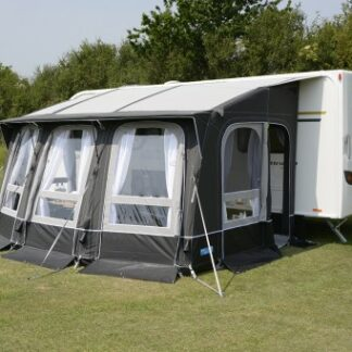 The Kampa Ace Air All Season 400 Awning is Sold by Devon Outdoor and The Camping and Kite Centre.