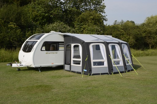 The Kampa Ace Air Pro 400 Awning is Sold by Devon Outdoor and The Camping and Kite Centre.