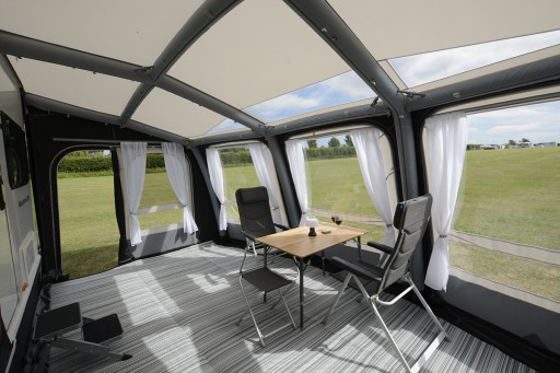 The Kampa Ace Air Pro 500 Awning is Sold by Devon Outdoor and The Camping and Kite Centre.