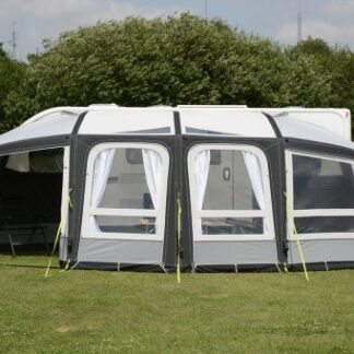The Kampa Frontier Air Pro 300 Awning is Sold by Devon Outdoor and The Camping and Kite Centre.